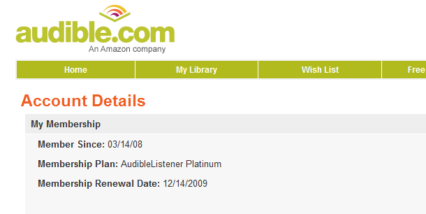 Audible.com free trial
