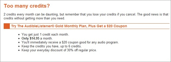 free audible coupon