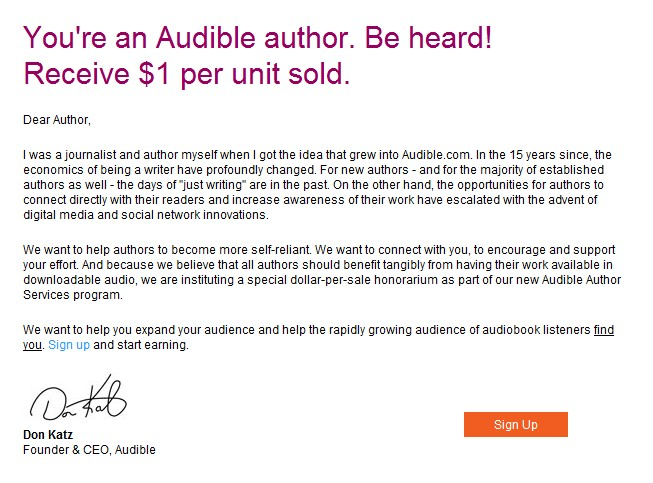 Audible Author Services