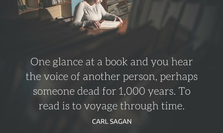 To read is to voyage through time