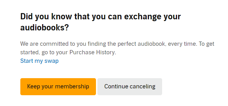 audible exchange