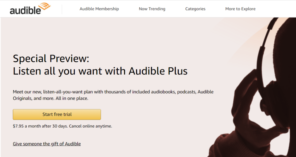 audible plus free trial