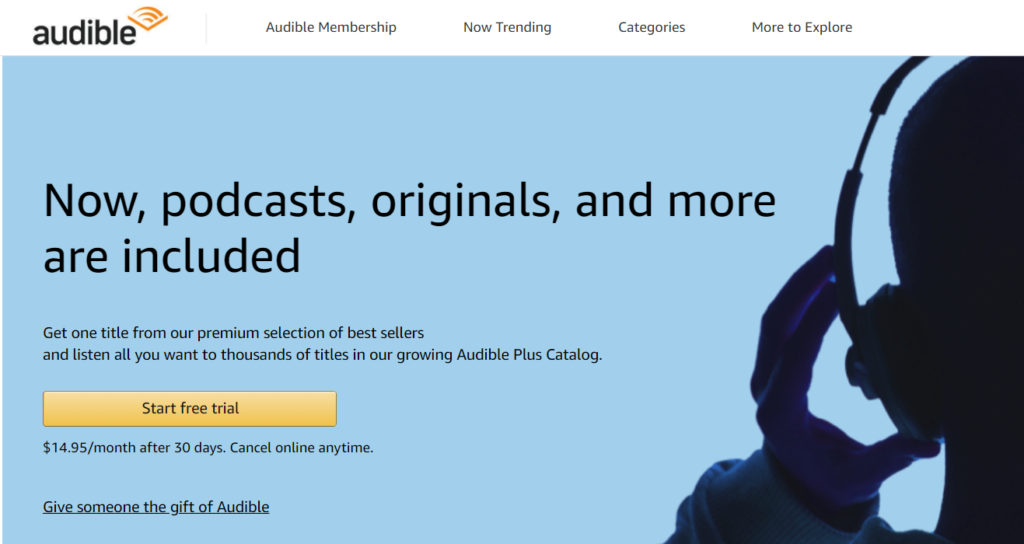 audible premium plus free trial